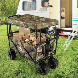 Collapsible Garden Folding Wagon Cart with Canopy carry size