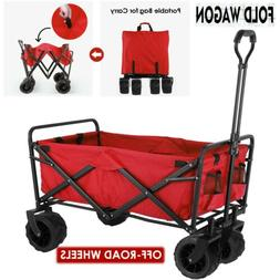 Collapsible Outdoor Utility Wagon Heavy Duty Folding Cart W/