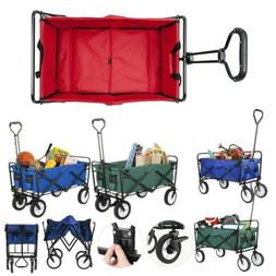 Collapsible Outdoor Utility Wagon Heavy Duty Garden Folding