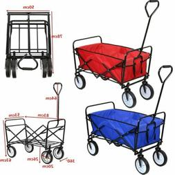 Collapsible Shopping Beach Cart Folding Wagon Utility Cart O