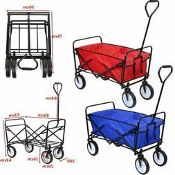 Collapsible Shopping Beach Cart Folding Wagon Utility Cart O