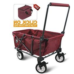 REDCAMP Collapsible Utility Cart for Camping, Folding Wagon