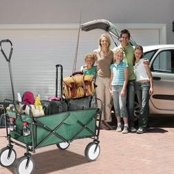 Collapsible Wagon Steel Frame Sport Fold Utility Cart Green