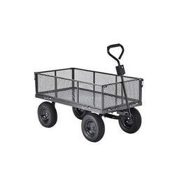 Muscle Carts CW4824-SV Steel Utility Garden Wagon