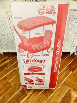 Radio Flyer® Deluxe 3-in-1 Grandstand Wagon with Canopy Mod