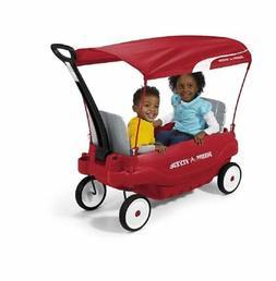 "Radio Flyer Deluxe Family Canopy Wagon 8.5"" Dura-Tred tires"