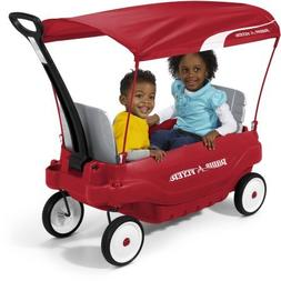 "Radio Flyer Deluxe Family Canopy Wagon 8.5"" Dura-Tred tires"