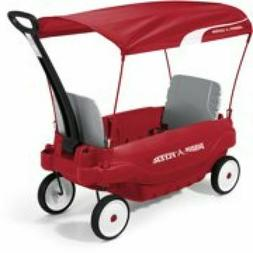 Deluxe Family Wagon with Canopy, Red, Seats two children. Fi