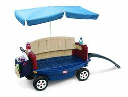 Little Tikes Deluxe Ride and Relax Wagon With Umbrella and C