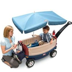 Little Tikes Deluxe Ride & Relax Wagon with Umbrella Toddler