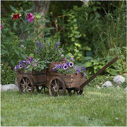 Stonegate Designs 2-Tiered Wooden Wagon Planter — Model# T