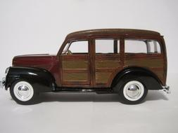SUPERIOR DIE-CAST 1940 FORD WOODY WAGON,   NEW IN BOX