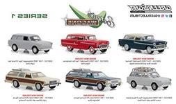 DIECAST 1:64 Estate Wagons Series 1 Assortment Set of 6 2991
