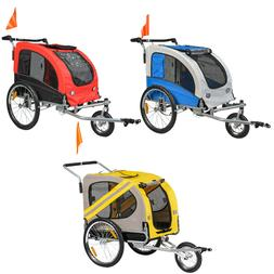 Dog Bike Trailer Pet Bicycle Cat Carrier Stroller Jogger Sho
