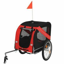 vidaXL Dog Bike Trailer Pet Carrier Bicycle Ride Wagon Pushc