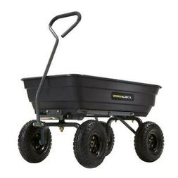 Gorilla Carts Dump Cart 600 lb. Poly Garden Quick Release He
