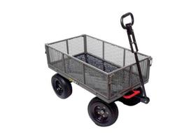 Dump Cart with 2-in-1 Convertible Handle and Removable Side