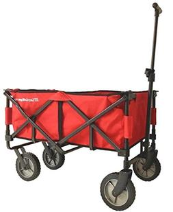 EasyGoWagon 2.0 – Red Folding Wagon - Collapsible Heavy Du