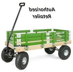 Green Berlin F257G Amish-Made Pee-Wee Flyer Wagon