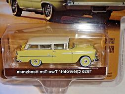 GREENLIGHT ESTATE WAGONS SERIES 2 YELLOW 1955 CHEVY TWO-TEN