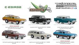 Greenlight Estate Wagons Series 3, Set of 6 Diecast Model Ca
