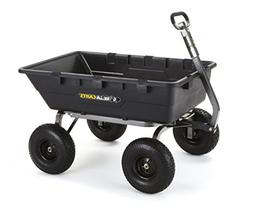 extra heavy-duty poly dump cart with 2-in-1 convertible hand
