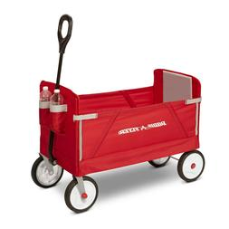 EZ Fold Wagon Padded Seat with Seat Belts Red Kids 3-in-1 2