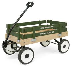 Berlin F257G Amish-Made Pee-Wee Flyer Wagon, Green
