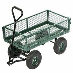 FDW Garden Yard Dump Cart Wagon - Green