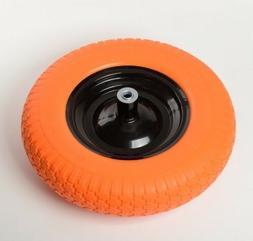 """16"""" Flat Free Wheel Barrow Wheelbarrow Tire Solid Foam 5/8 A"""