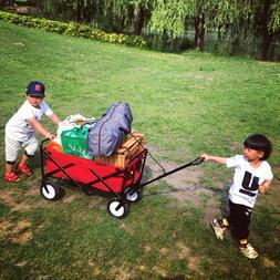 5%Wheel Heavy Duty Folding Bag Garden Trolley <font><b>Cart<
