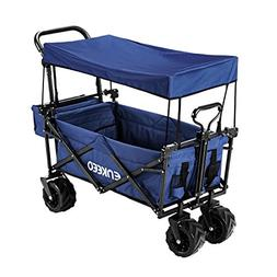 ENKEEO Foldable Utility Wagon Collapsible Sports Outdoor Car