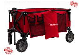 Foldable Wagon Cart Folding Collapsible Utility Beach For Ki