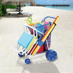 Folding Beach Cart Wagon Sand Outdoor wonder wheeler sports