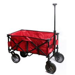 Folding Beach Outdoor Wagon Cart Collapsible Utility Garden