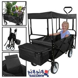 Folding Beach Wagon Garden Cart Storage Utility Buggy Toy w/