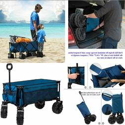 Folding Camping Collapsible Sturdy Steel Garden Beach Wagon
