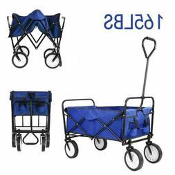 Folding Collapsible Wagon Cart Utility Garden Buggy Camp Bea