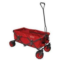 Creative Outdoor 7 cu. ft. Folding Garden Wagon Carts in Red