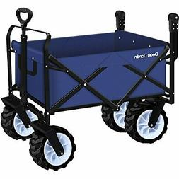 Folding Push Wagon Cart Collapsible Utility Camping Grocery