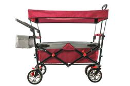 Folding Sport Wagon with Canopy-RED