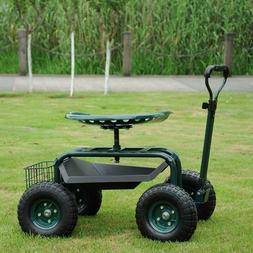 Patio Lawn Garden Cart Planting w/Tool Storage Basket& Utili