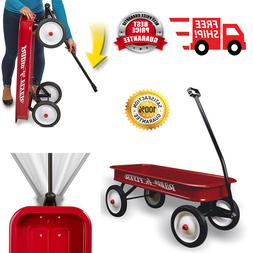 Folding Utility Wago Classic Red Wagon Extra Long Handle Fol