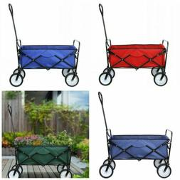 Folding Wagon Beach Collapsible Camping Sport Garden Push Ut