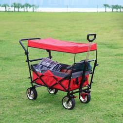 Folding Wagon Canopy Collapsible Outdoor Camping Utility w/