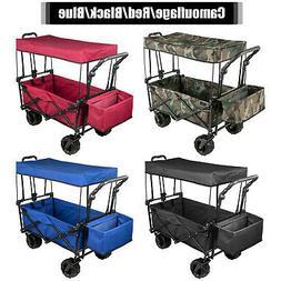 Folding Wagon Cart, Collapsible Folding GardenWagon, Camoufl