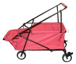 Folding Wagon Collapsible Beach Utility Cart Outdoor Wagon G