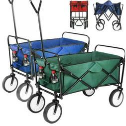 folding wagon collapsible garden beach utility cart