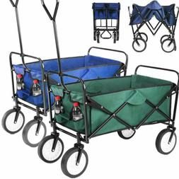 Folding Wagon Collapsible Garden Utility Cart Handle Blue&Gr