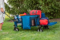 Folding Wagon Collapsible Garden Utility Cart Telescoping Ha
